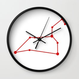 Leo (Red & White) Wall Clock