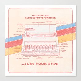Just Your Type: Vintage 80s Electric Typewriter Canvas Print