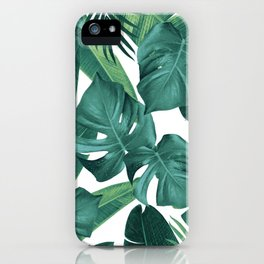 Tropical Summer Jungle Leaves Dream #2 #tropical #decor #art #society6 iPhone Case