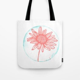 Daisy Birth Flower - April - Coral Tote Bag