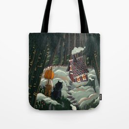 the witch in the gingerbreadhouse Tote Bag