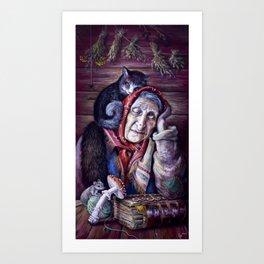 """""""Yagusya"""" (""""Baba Yaga"""") Art Print"""