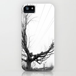 Between the lines: Nature vrs Human iPhone Case