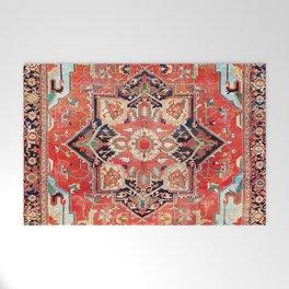 Heriz Azerbaijan Northwest Persian Rug Print Welcome Mat