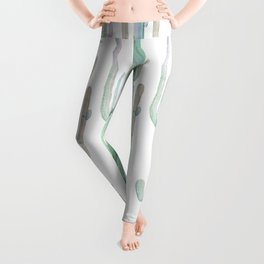 Arizona Wilderness Cactus Pattern Leggings