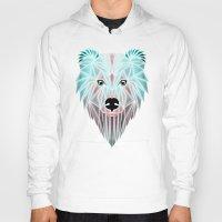 polar bear Hoodies featuring polar bear by Manoou