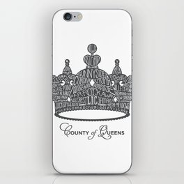 County of Queens | NYC Borough Crown (GREY) iPhone Skin