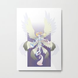 Radiant Rainbow Seraph Metal Print