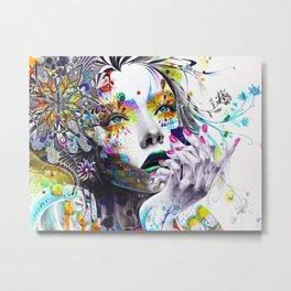 She is Flowers Metal Print