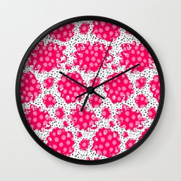 Pop out flowers Wall Clock