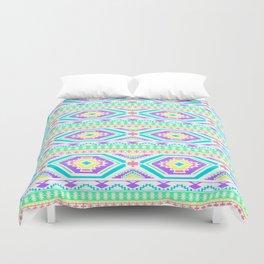 Aztec Geometric Print - Pastel bright colours Duvet Cover