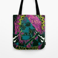 anarchy Tote Bags featuring Anarchy by Tshirt-Factory
