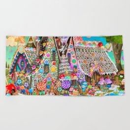 The Gingerbread Mansion Beach Towel