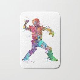 Baseball Softball Catcher 3 Art Sports Poster Bath Mat