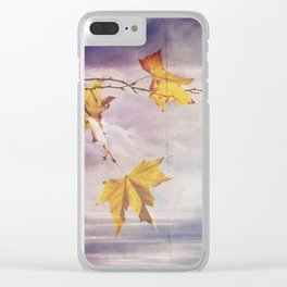 Faded Leaves - JUSTART © Clear iPhone Case