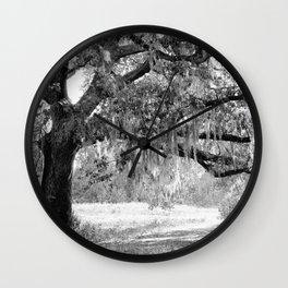 New Orleans Oak Tree Wall Clock