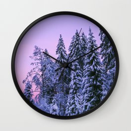 The Dawn In Winter Wall Clock