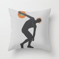 paramore Throw Pillows featuring Vinylbolus by Sitchko Igor