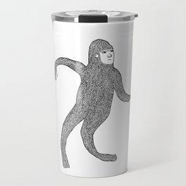 Bigfoot Doing The Wave Travel Mug