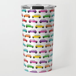 Vintage Mini Cars in rainbow colors Travel Mug