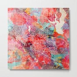 Mesquite map Texas painting 2 Metal Print