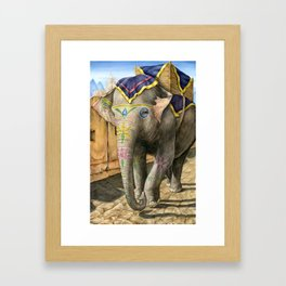 Indian Elephant Framed Art Print