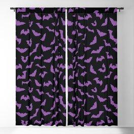 Pastel goth purple black bats Blackout Curtain