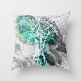 Space mushroom Throw Pillow