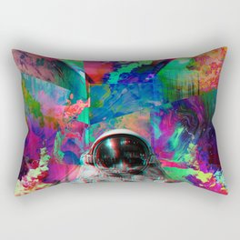 Tripping Space Man Rectangular Pillow