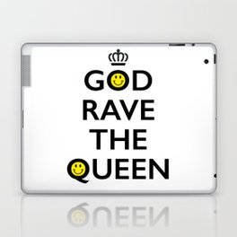 GOD RAVE THE QUEEN Laptop & iPad Skin