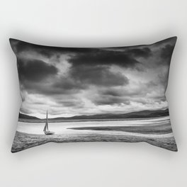 All alone on the Dovey Estuary Wales Rectangular Pillow
