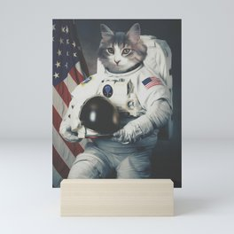Astro cat usa Mini Art Print