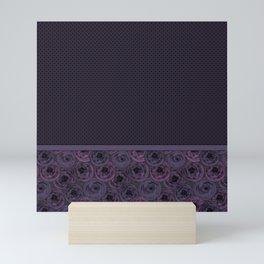 Anemones , plum color Mini Art Print