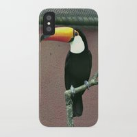 toucan iPhone & iPod Cases featuring Toucan by Lili Batista
