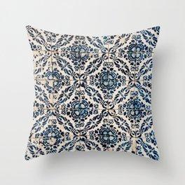Azulejo IX - Portuguese hand painted tiles Throw Pillow