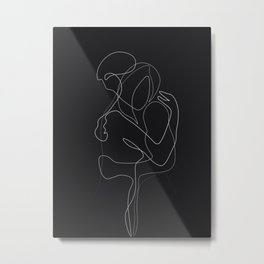 Lovers DarkVersion Metal Print