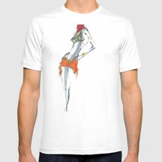 Dance for me White Mens Fitted Tee SMALL