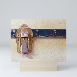 Worn Catch on Old Case Mini Art Print