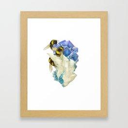 Bees on Fluorite Framed Art Print