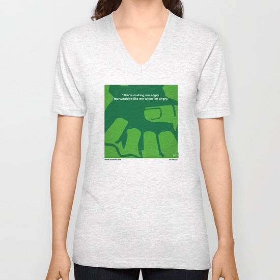 No040 My HULK minimal movie poster Unisex V-Neck