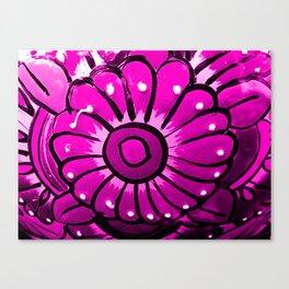 Talavera Hot Pink Canvas Print