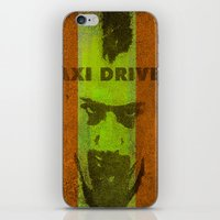 taxi driver iPhone & iPod Skins featuring Taxi Driver by Ganech joe