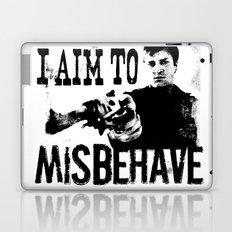 I aim to misbehave Laptop & iPad Skin