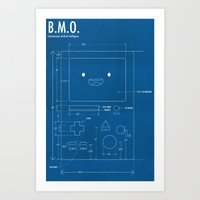 beemo Art Prints featuring B.M.O. Entertainment Artificial Intelligence (Front) by Elliot Frantz