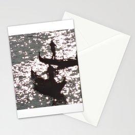 Sparkling Gondolas in Venice Stationery Cards