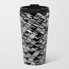 Moving Panes Black & White Metal Travel Mug