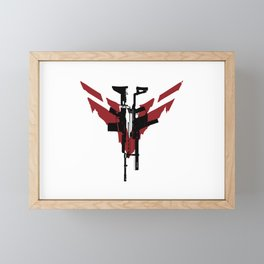 Ghost Recon: Breakpoint Assault Rifle (Red) Framed Mini Art Print