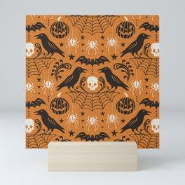 All Hallows' Eve - Orange Black Halloween Mini Art Print