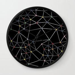 Segment Color Spot Black Wall Clock
