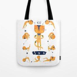 Yogini Cat Tote Bag